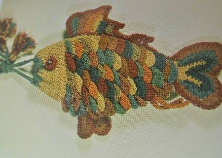 crochet fish bag Edgy 1970s Crocheters: Nicki Hitz Edson