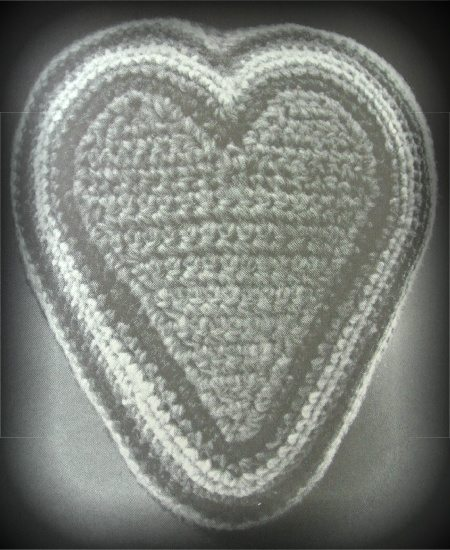 crochet heart 1970s Crochet Designers: Mark Dittrick