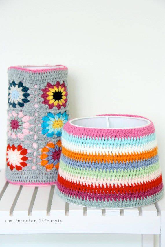 15 magnifiques lampes au crochet pour gayer votre maison. Black Bedroom Furniture Sets. Home Design Ideas