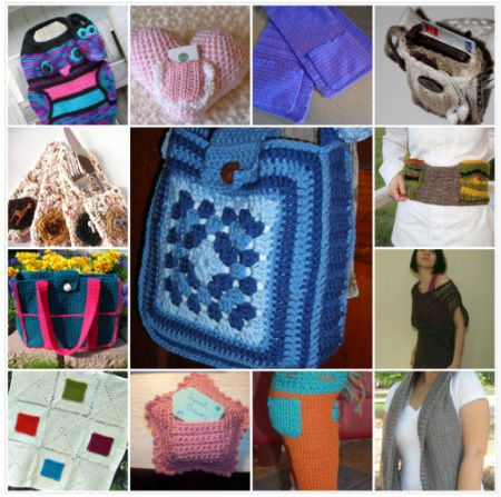 crochet pockets Then and Now in Crochet (8/26   9/8)