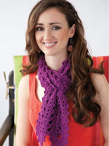 crochet scarf pattern Ellen Gormleys Learn Bruges Lace (with Giveaway)
