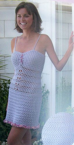 crochet slip dress 15 Beautiful Free Crochet Dress Patterns for Women
