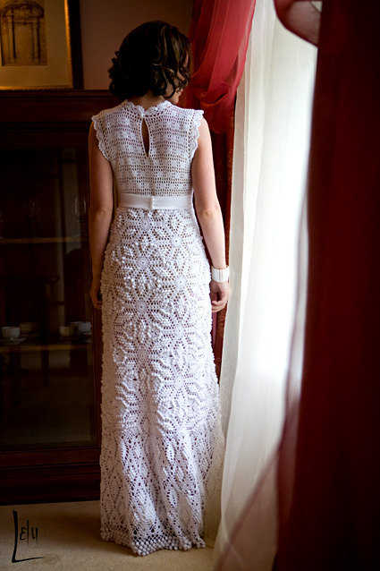 15 beautiful crochet dress patterns crochet patterns for Crochet wedding dress patterns