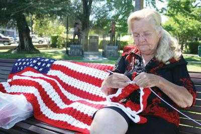 crocheting flags Then and Now in Crochet (9/9   9/15)
