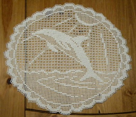 filet crochet dolphin Surprising Crochet Art from Industrial Designer Alessandro Zambelli