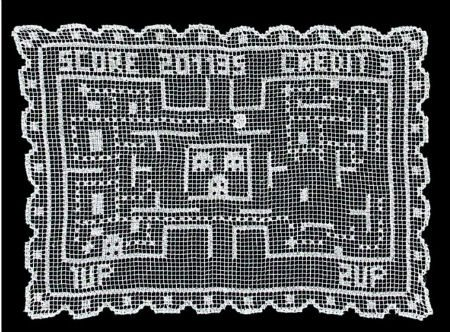 filet crochet pacman Surprising Crochet Art from Industrial Designer Alessandro Zambelli