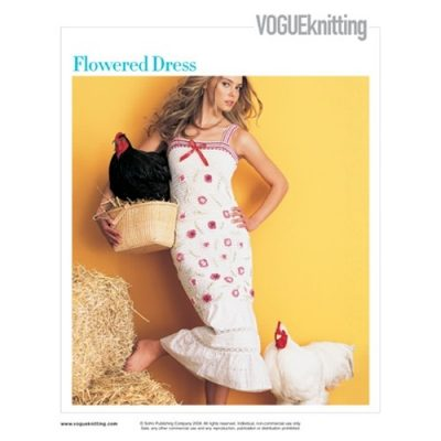 flowered crochet dress 400x400 15 Beautiful Crochet Dress Patterns to Buy Online