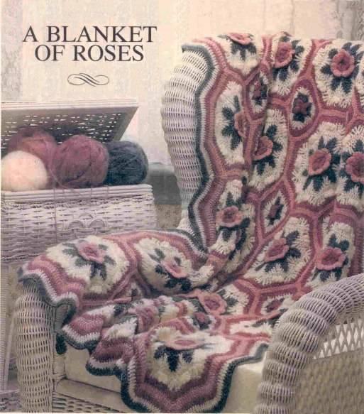 Crochet Rose Blanket Free Pattern : 10 Fabulous Free Crochet Patterns That Require 4000+ Yards ...