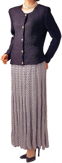 knit crochet suit skirt 10 Fabulous Free Crochet Patterns That Require 4000+ Yards of Yarn