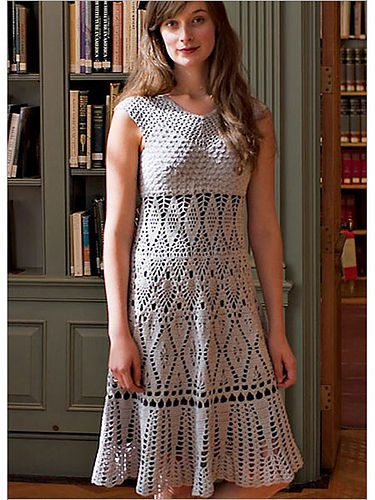 lily chin lace dress 15 Beautiful Crochet Dress Patterns to Buy Online