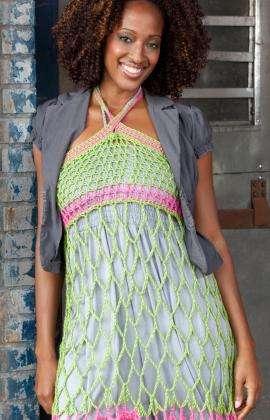 neon crochet dress pattern