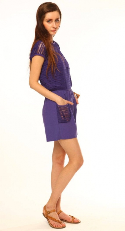 purple crochet romper 400x736 11 Cutest Ever Crochet Rompers for Women