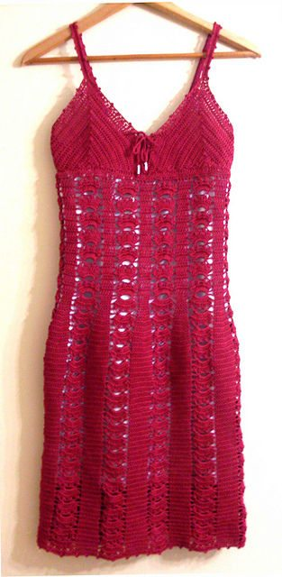 red crochet dress 15 Beautiful Free Crochet Dress Patterns for Women