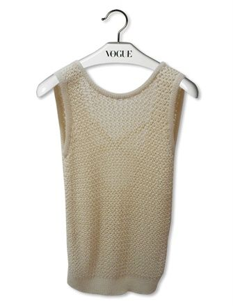 sleeveless crochet sweater Designer Crochet: Martin Margiela