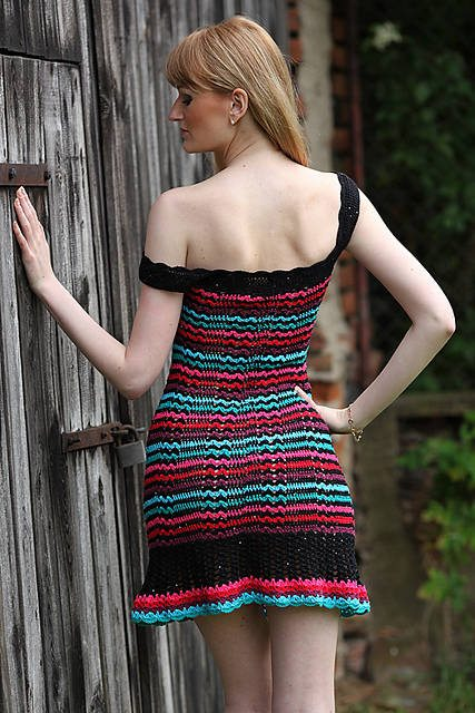 striped crochet dress pattern 15 Beautiful Crochet Dress Patterns to Buy Online