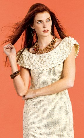 textured crochet dress 15 Beautiful Free Crochet Dress Patterns for Women