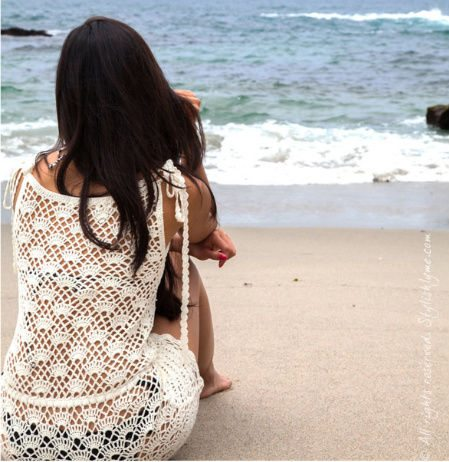 white crochet beach romper 11 Cutest Ever Crochet Rompers for Women