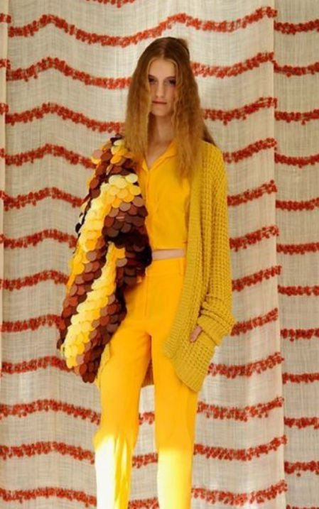 yellow crochet sweater1 September Celebrity and Designer Crochet