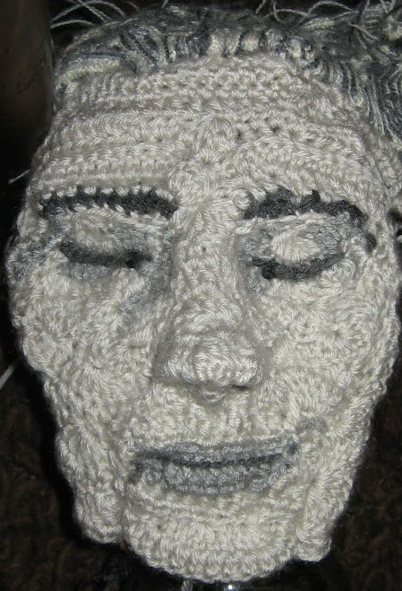 3d crochet portrait