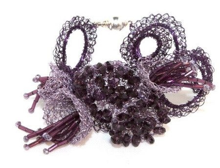 alessandra wire crochet jewelry piece Alessandra Stabili Wire Crochet Jewelry