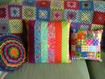 attic 24 cushions 400x300 Five Crafters Homes I Would Love To Have a Crochet Retreat At