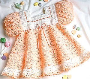 baby crochet dress pattern1 15 Beautiful Kids Crochet Dress Patterns to Buy Online