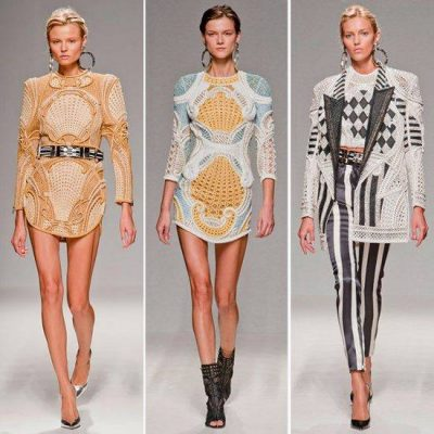 balmain crochet 400x400 October 2012 Celebrity and Designer Crochet Roundup