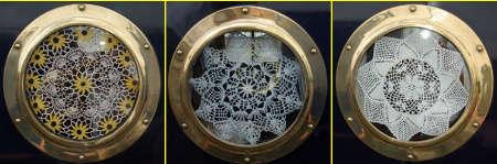 boat porthole doily Crochet History: Canal Narrowboats