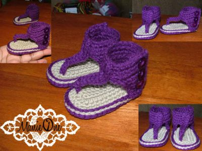 crochet baby sandals1 400x300 Crochet Shoes and Accessories from Manie One