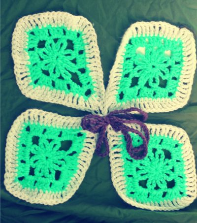 crochet butterfly 400x453 Crochet Art for Papergirl SF
