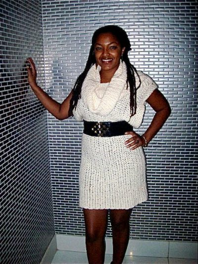 crochet dress 400x533 Bahamian Actress Launches Crochet Line