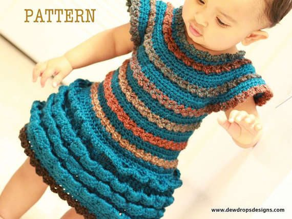 Crochet Patterns Little Girl Dresses : 15 Beautiful Kids Crochet Dress Patterns to Buy Online