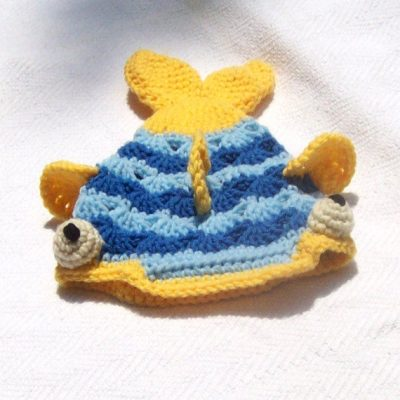 crochet fish hat 400x400 Interview with the Husband and Wife Team Behind Craftypodes