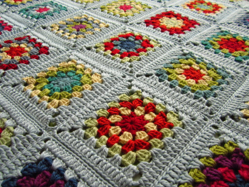 Crochet Square Blanket Crochet Granny Square Blanket
