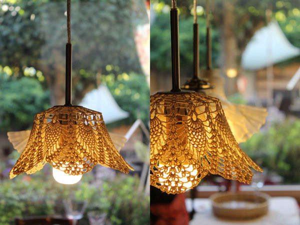Crochet Pattern Lovely Lampshade : crochet lamp