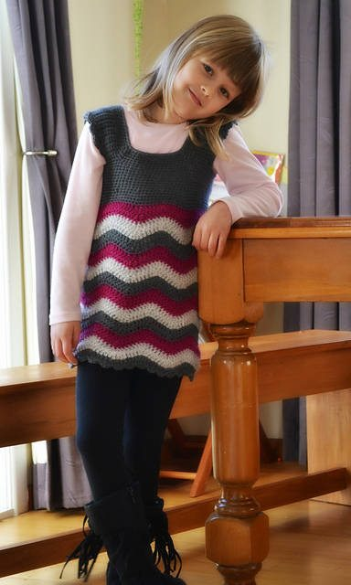 crochet ripple dress pattern