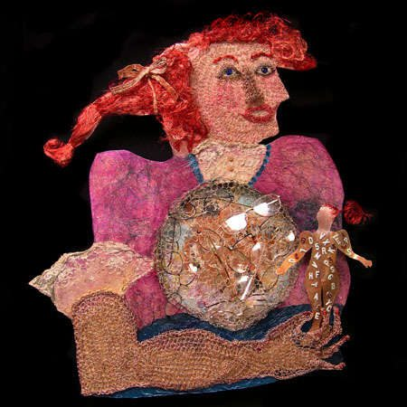 crochet wire art portrait Edgy 1970s Crochet Designers: Bonnie Meltzer