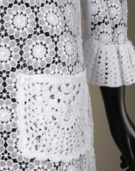 dolce and gabbana crochet lace coat Crochet Blog Roundup: October in Review