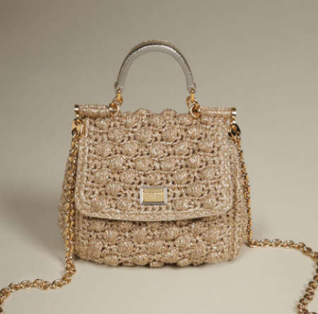 dolce and gabbana crochet purse1 5 Current Crochet Items from Dolce and Gabbana
