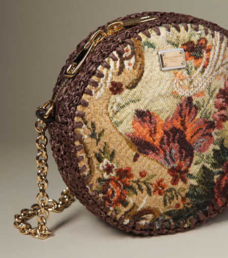 dolce and gabbana raffia crochet purse1 5 Current Crochet Items from Dolce and Gabbana