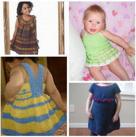 Post image for 15 Beautiful Free Crochet Patterns for Girls' Dresses