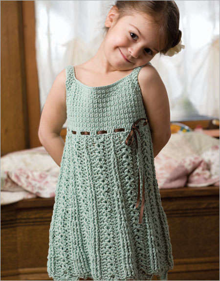 girls crochet dress pattern1 15 Beautiful Kids Crochet Dress Patterns to Buy Online