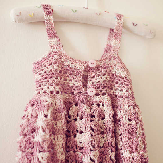 Crochet Stitches For Dresses : 15 Beautiful Kids Crochet Dress Patterns to Buy Online