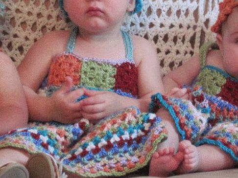 granny square baby dress
