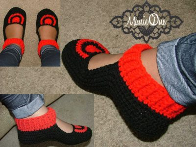 manie one crochet slippers 400x300 Crochet Shoes and Accessories from Manie One