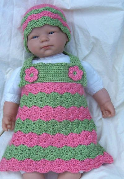 newborn crochet jumper dress 15 Beautiful Kids Crochet Dress Patterns to Buy Online