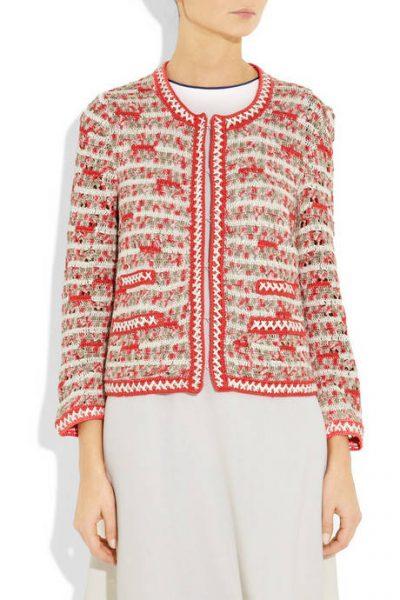 oscar de la renta crochet coat 400x600 Designer Crochet: Oscar de La Renta
