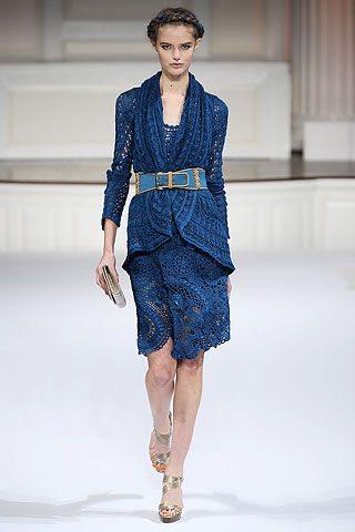 oscar de la renta crochet dress1 Designer Crochet: Oscar de La Renta