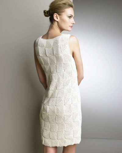oscar de la renta crochet dress2 400x500 Designer Crochet: Oscar de La Renta