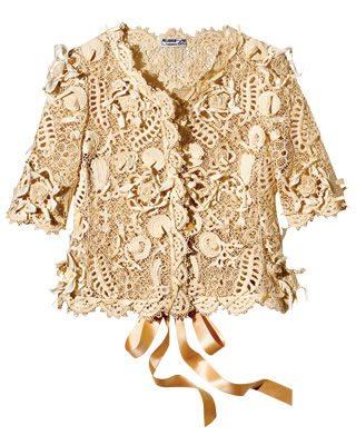 oscar de la renta crochet jacket Designer Crochet: Oscar de La Renta